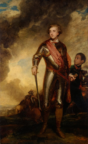 Sir Joshua Reynolds, 1723-1792, British, Charles Stanhope, third Earl of Harrington, and a Servant, 1782, Oil on canvas, Yale Center for British Art, Paul Mellon Collection.