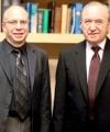 From left: Ian Shapiro, Judge Goldstone.
